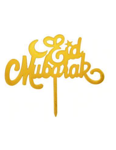 """PIC A GATEAU """"EID MUBARAK"""" OR"""