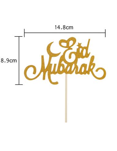 """PIC A GATEAU """"EID MUBARAK"""" OR LEGER"""