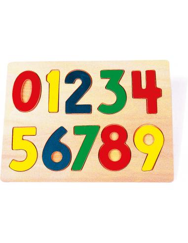 Puzzle à encastrement chiffres