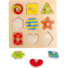 Puzzle des formes à encastrer