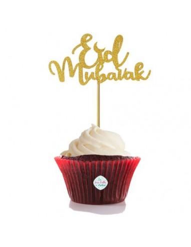 "Lot de 5 pics à cupcake/gateau ""Eid..."