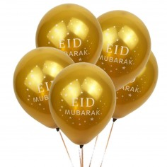 "Lot de 10 ballons or ""Eid..."