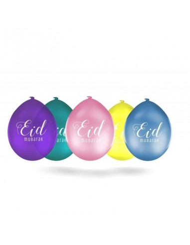 "Lot de 10 ballons multicolores ""Eid..."