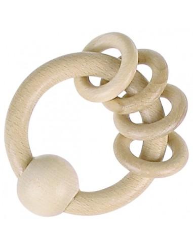 Hochet avec 4 anneaux